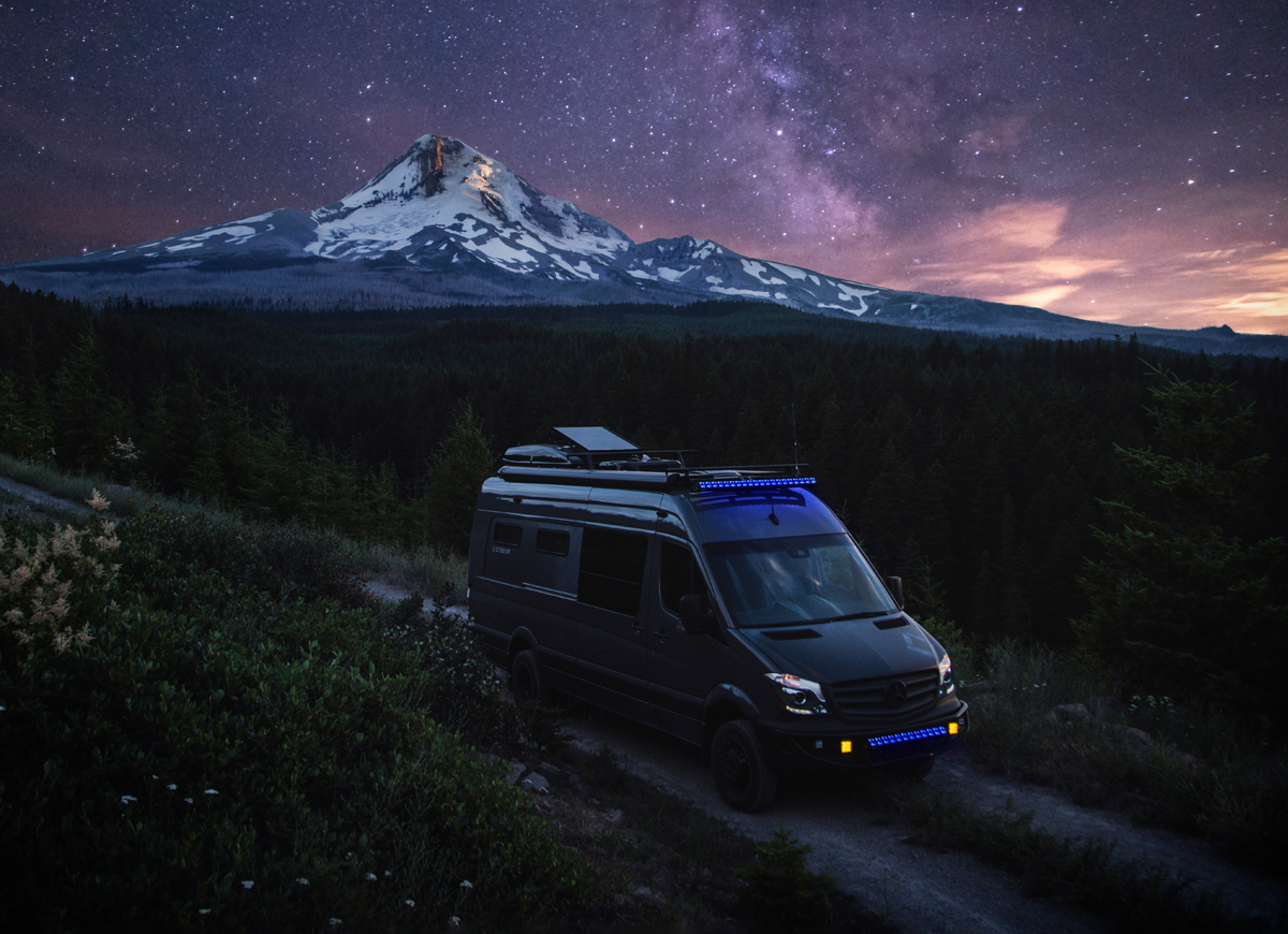Outside Van Off-Grid